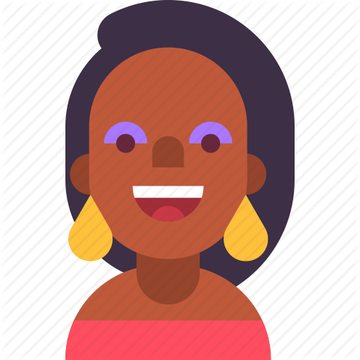 African, American, Avatar, Earring, Girl, Makeup, Woman Icon