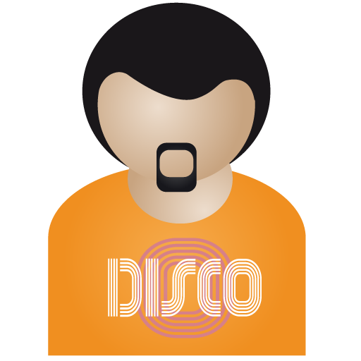 Afro, Disco, Man Icon