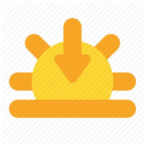 Afternoon, Sun, Sunset, Weather Icon