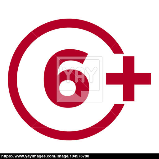 Limit Age Icon On Red Background Icons Age Limit Flat