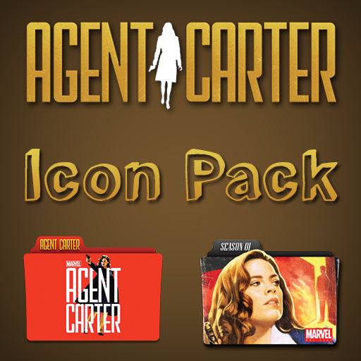 Agent Carter Folder Icon Pack
