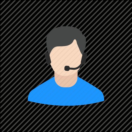 Agent, Call Center, Man, Service Center Icon