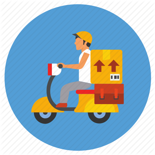 Delivery, Delivery Agent, Ecommerce, Scooter Icon