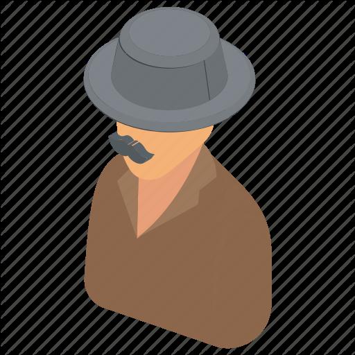 Detective, Mysterious Man, Secret Agent, Spy, Spy Agent Icon