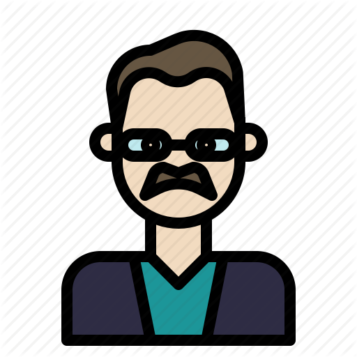 Aging, Beard, Glabrous, Glasses, Oldman Icon