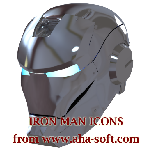 Silver Iron Man Mask Icon