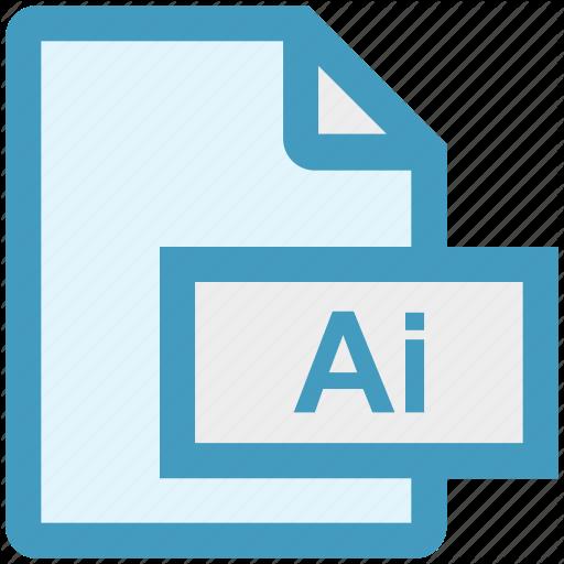 Adobe, File, File, Format, Illustrator, Vector Format Icon