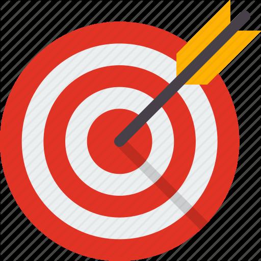 Aim, Arrow, Business, Focus, Goal, Target Icon