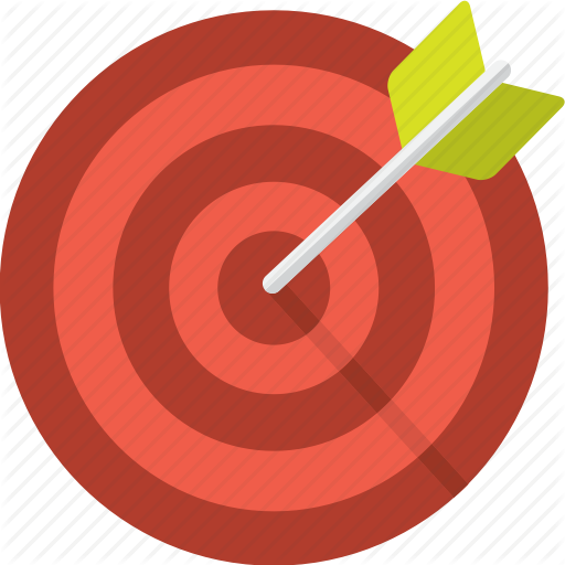 Aim, Arrow, Center, Goal, Hit, Succes, Target Icon