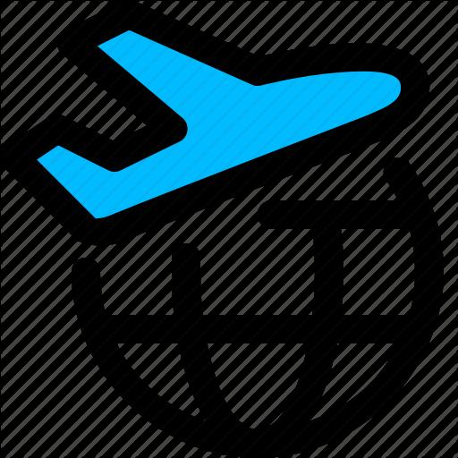Air, Flight, International, Shipping Icon
