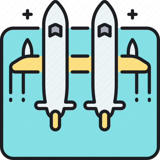 Aircraft, Carrier, Plane, Rocket, Rocket Carrier Plane Icon