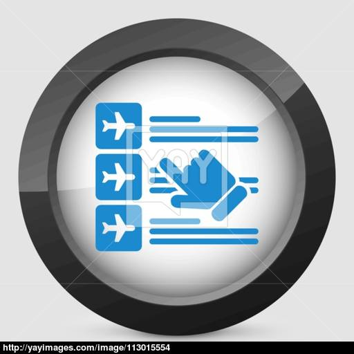 Airline Booking Icon Vector