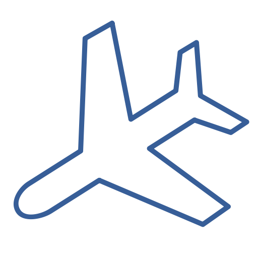 Way, Transportation, Plane, One, Flight, Airplane, Journey Icon