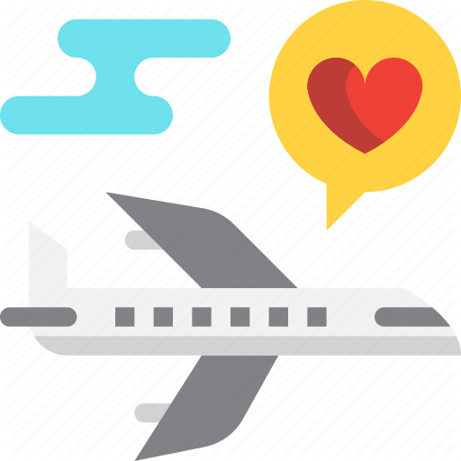 Airplane, Day, Honeymoon, Love, Trip, Valentines Icon