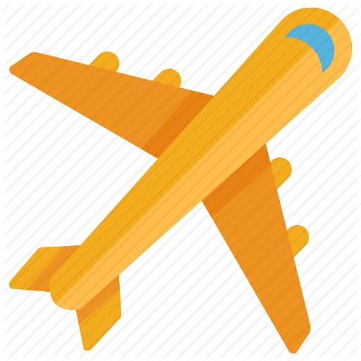 Airplane, Yellow, Orange, Transparent Png Image Clipart Free