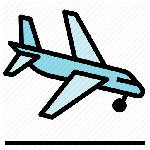 Airplane, Arrival, Land Icon