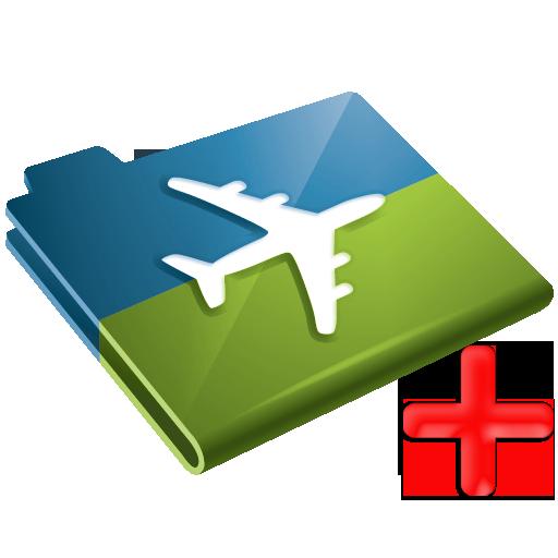 Insurance, Plus, Airplane, Travel Icon
