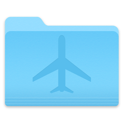 Yosemite Airplane Folder Icon