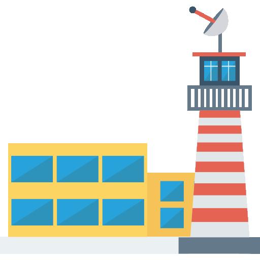 Airport Icon Building Dinosoftlabs