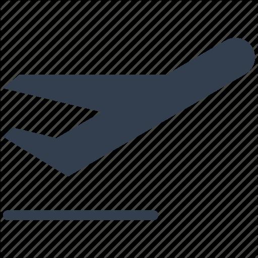 Airplane, Airport, Departures, Flight, Plane Icon