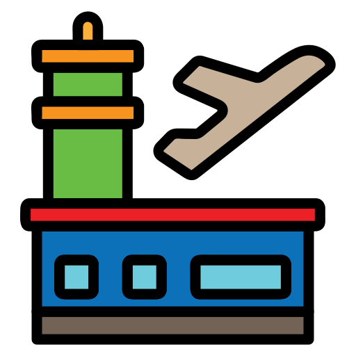 Airport, Building, Transportation, Travel, Travelling Icon Free