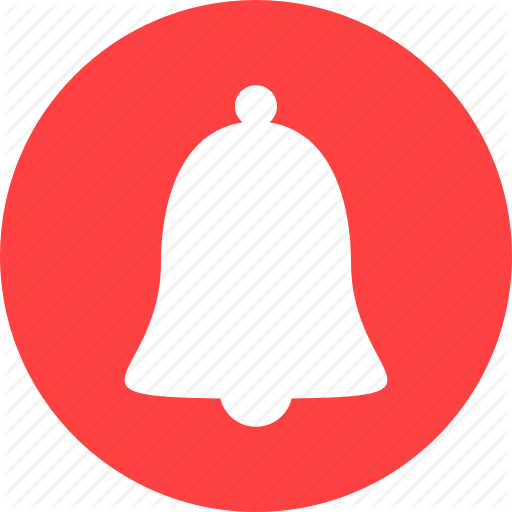 Alarm, Alert, Attention, Bell, Circle, Notification, Red Icon