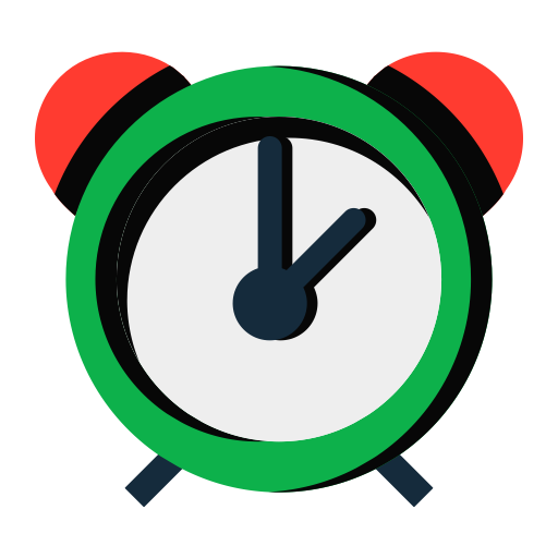 Alarm Clock, Fill, Flat Icon With Png And Vector Format For Free