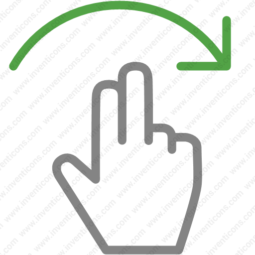 Download Finger,gesture,hand,one,right,swipe Icon Inventicons