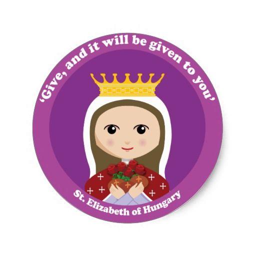 St Elizabeth Of Hungary Classic Round Sticker Bal Wszystkich