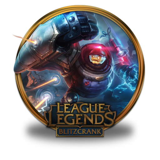 Blitzcrank Riot Icon League Of Legends Gold Border Iconset