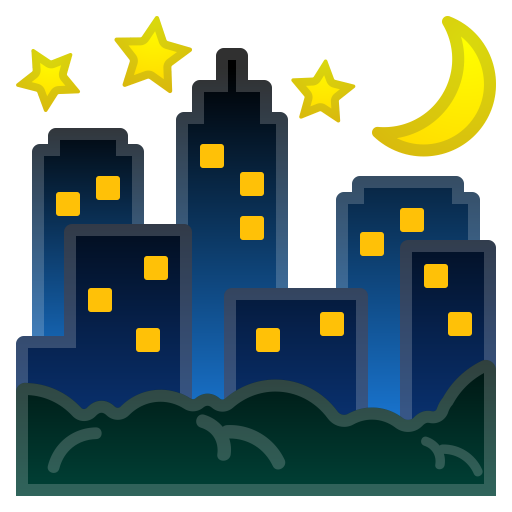 Night With Stars Icon Noto Emoji Travel Places Iconset Google