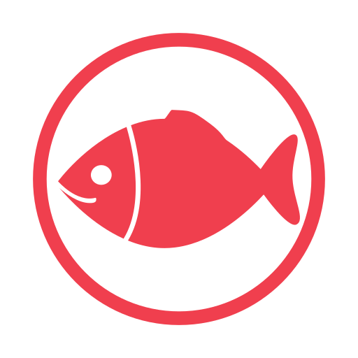 Fish, Allergen, Food Allergy Icon Free Of Food Alergy Red