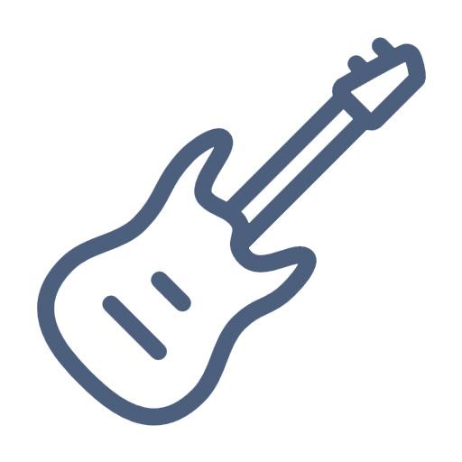 Icon White Musician New