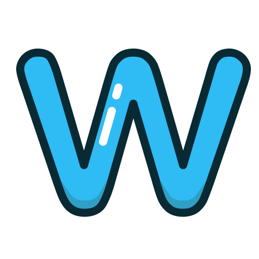 W, Letters, Blue, Letter, Alphabet Icon