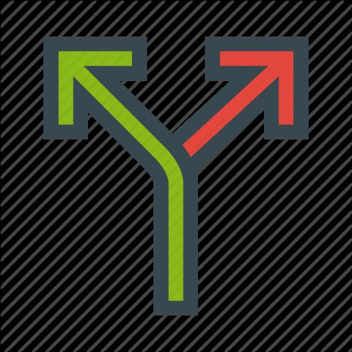 Alternate, Alternative, Arrows, Diverge, Routes Icon