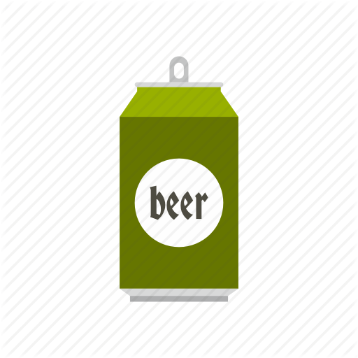 Aluminum, Beer, Beverage, Can, Cold, Liquid, Metal Icon