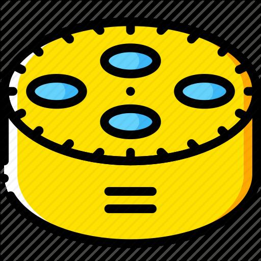 Amazon, Devices, Dot, Echo, Music, Yellow Icon
