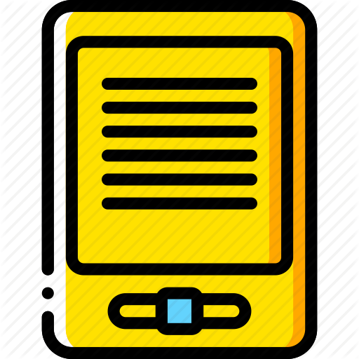 Amazon, Devices, E, Kindle, Reader, Yellow Icon