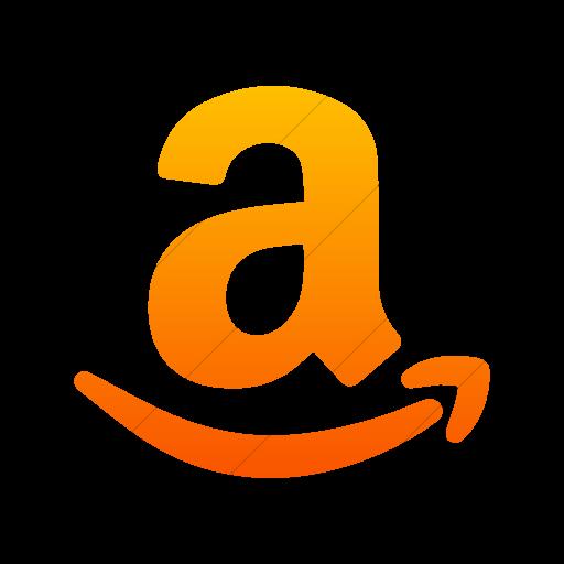 Simple Orange Gradient Foundation Social Amazon Icon