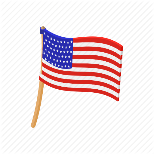 Cartoon American Flag American Cartoon Flag Independence July Pole