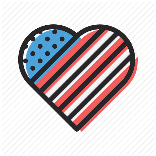 America, American, Heart, Independence Day, July Love