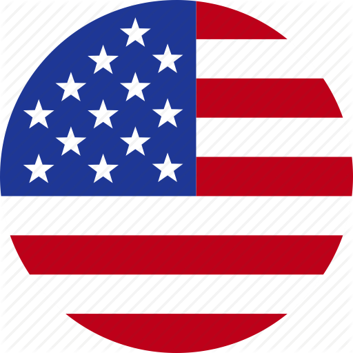 American, Circle, Flag, States, United, Us, Usa Icon