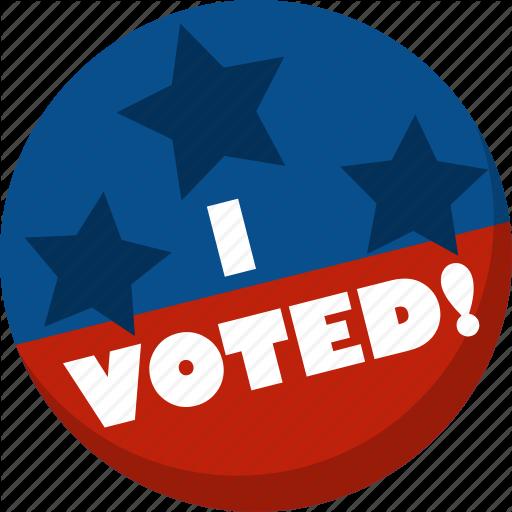 America, Election, I Voted, Star, Vote, Voting Icon