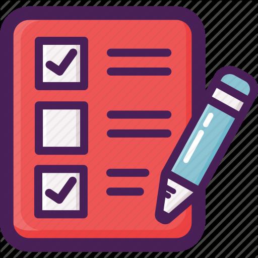 Check, Exam, Paper, Quiz, Test Icon