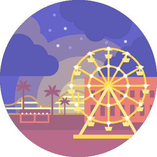 Landscape, Entertainment, Scenery, Amusement Park Icon