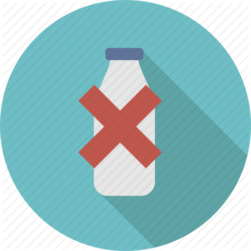 Bottle, Closed, Free, Lactose, Milk, No, Packaging Icon