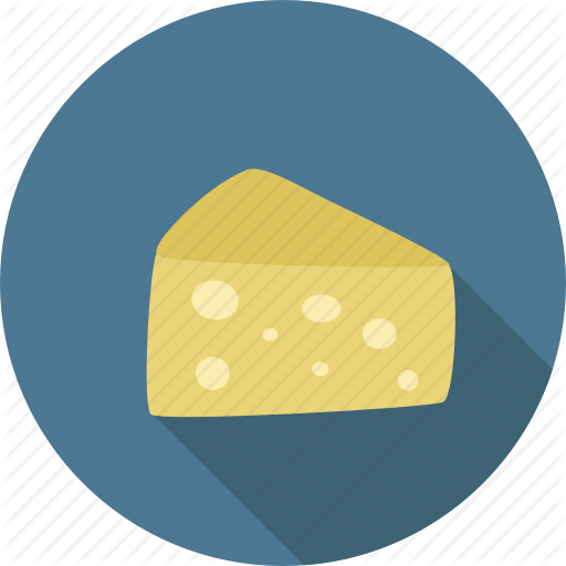 Cheese, Dairy, Food, Piece, Swiss Icon