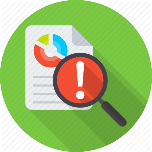 Analysis, Control, Document, Evaluation, Management, Risk Icon