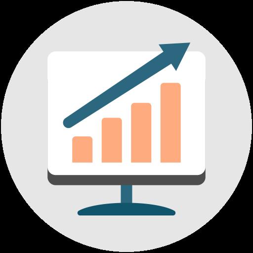 Productivity, Performance, Analysis Icon