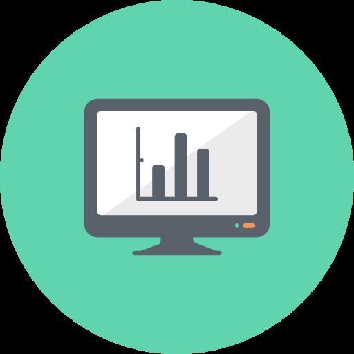 Chart, Charts, Graph, Diagram, Monitor, Analysis, Graphs Icon